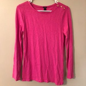 J CREW hot pink painter shirt